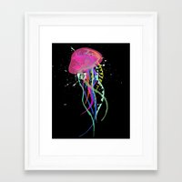 jelly fish Framed Art Prints featuring Jelly Fish by Noel Mendoza