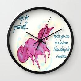 Be The Unicorn Wall Clock