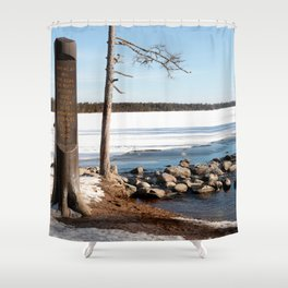 Mississippi Headwaters in March 2016 Shower Curtain
