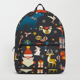 Christmas symbols pattern Backpack