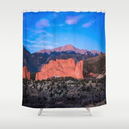 Pikes Peak - Sunrise Over Garden of the Gods in Colorado Springs Shower Curtain