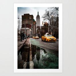 23rd Street Puddles Art Print