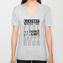 Kilkenny Pool is a Shower Unisex V-Neck