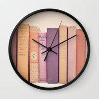 literary Wall Clocks featuring Literary Gems II by Laura Ruth