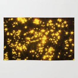 Yellow water stars Rug