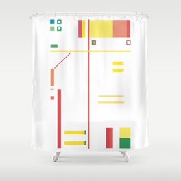 Intersection with Objects Shower Curtain