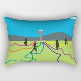 Many Paths to Jesus Rectangular Pillow