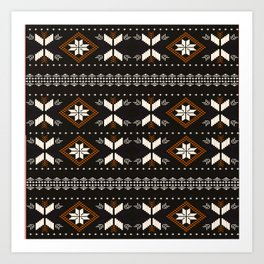 Borneo/Dayak tribal style pattern Art Print