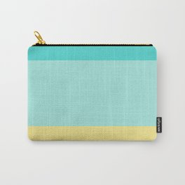 A pretty stew of Macaroni And Cheese, Aqua Marine, Pale Turquoise and Flavescent stripes. Carry-All Pouch