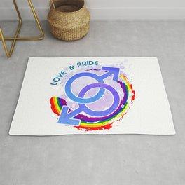 Love & Pride - Gay LGBTQ Design Rug