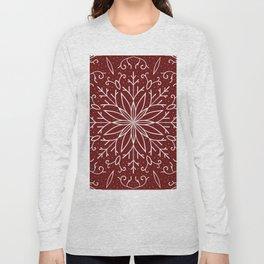 Single Snowflake - dark red Long Sleeve T-shirt