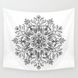 Thrive - Monochrome Mandala Wall Tapestry