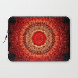 Vibrant Red Gold and black Mandala Laptop Sleeve