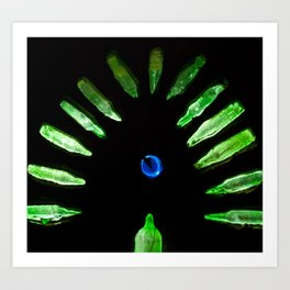 Stained Glass Semi-Circle Art Print