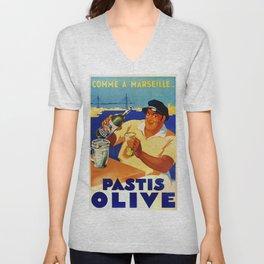 Pastis Olive - Vintage Poster Unisex V-Neck