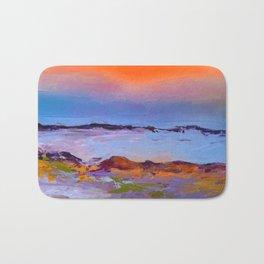 Perfect Seascape - Abstract Sunrise, Sunset Bath Mat