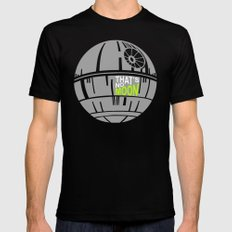That's No Moon MEDIUM Black Mens Fitted Tee