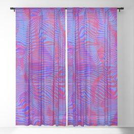 rippling bars Sheer Curtain