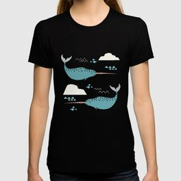 Narwhal blue T-shirt