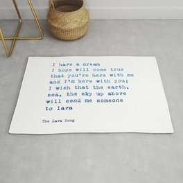 Lava song Love Quote Rug