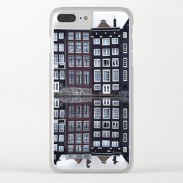 Amsterdam houses 1. Clear iPhone Case
