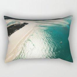whitsunday island aerial Rectangular Pillow
