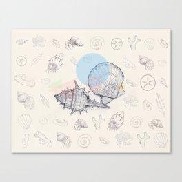 Seaside Cottage Beach Boi - Collab w Freezing Paint Canvas Print