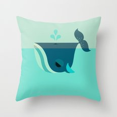 Be Nice to Whales Throw Pillow