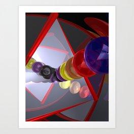 in a mirror -2- Art Print