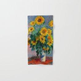 Bouquet of Sunflowers - Claude Monet Hand & Bath Towel