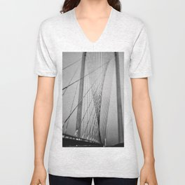 Santiago Calatrava Bridge Unisex V-Neck