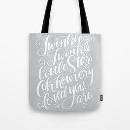 Twinkle Twinkle Litte Star Grey Tote Bag