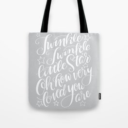 Twinkle Twinkle Litte Star Grey Tote Bag