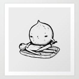 onion role reversal Art Print
