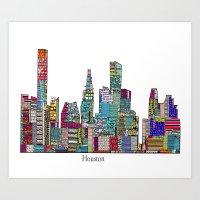 houston Art Prints featuring Houston by bri.buckley