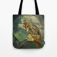 Tote Bags featuring She Waits by Maggie Green