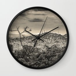 Guayaquil Outskirts Aerial View from Botanical Garden Wall Clock