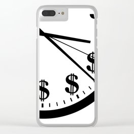 When Time Is Money Clear iPhone Case