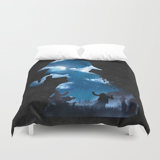 The Terrible Hound on the Moorland Duvet Cover