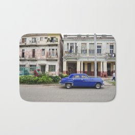 Havana Cuba Cuban Vintage Car Architecture Vedado Urban Street Photography Bath Mat