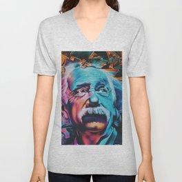 Einstein graffiti Unisex V-Neck