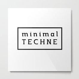 Minimal Techne Sweater Metal Print