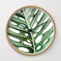 Circular Monstera Leaf Painting by shealeenlouise