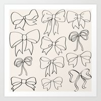 bows Art Prints featuring bows by courtneeeee