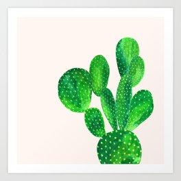 Bunny ears cactus Art Print