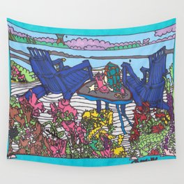 Beach Chairs Wall Tapestry