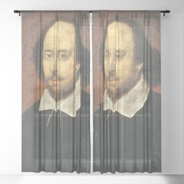 The Complete Artworks of William Shakespeare Sheer Curtain