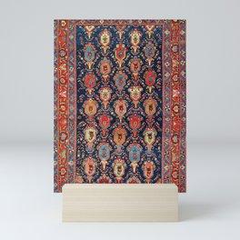 Bijar Kurdish Northwest Persian Rug Print Mini Art Print