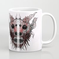 beast Mugs featuring Beast by WES EXOTIC IMAGERY