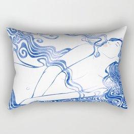 Water Nymph LXVII Rectangular Pillow